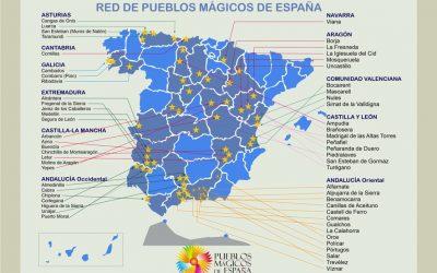MAPA DE LOS PUEBLOS MÁGICOS DE ESPAÑA (oficial)